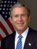 Official Portrait of President George W. Bush: White House photo by Eric Draper